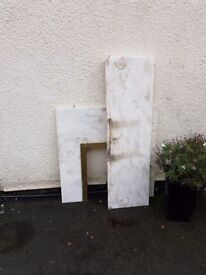 Free marble fireplace insert and harth