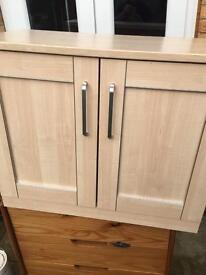 Small freestanding sideboard with adjustable shelf