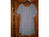 Next blue ditsy dress size 12
