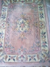 2 Chinese carpets, Pink, 180 by 123 cm, REDUCED Further