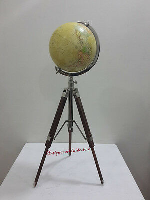 Contemporary World Table Decor Globe W /  Tripod Stand