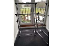 Clothes rails, heavy duty 45 Kg load