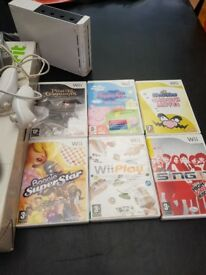 Wii console and fit board bundle