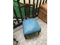 Leather style antique chair