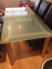 Frosted glass table (la Galleria)