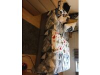 REDUCED Double divan bed base and mattress