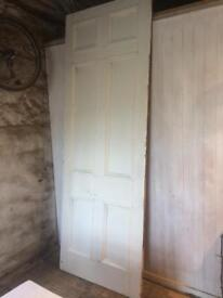 Very large Georgian Pine panel door from Edinburgh's New Town