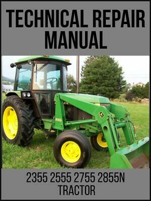 John Deere 2355 2555 2755 2855n Tractors Technical Manual Tm4434 Usb Drive
