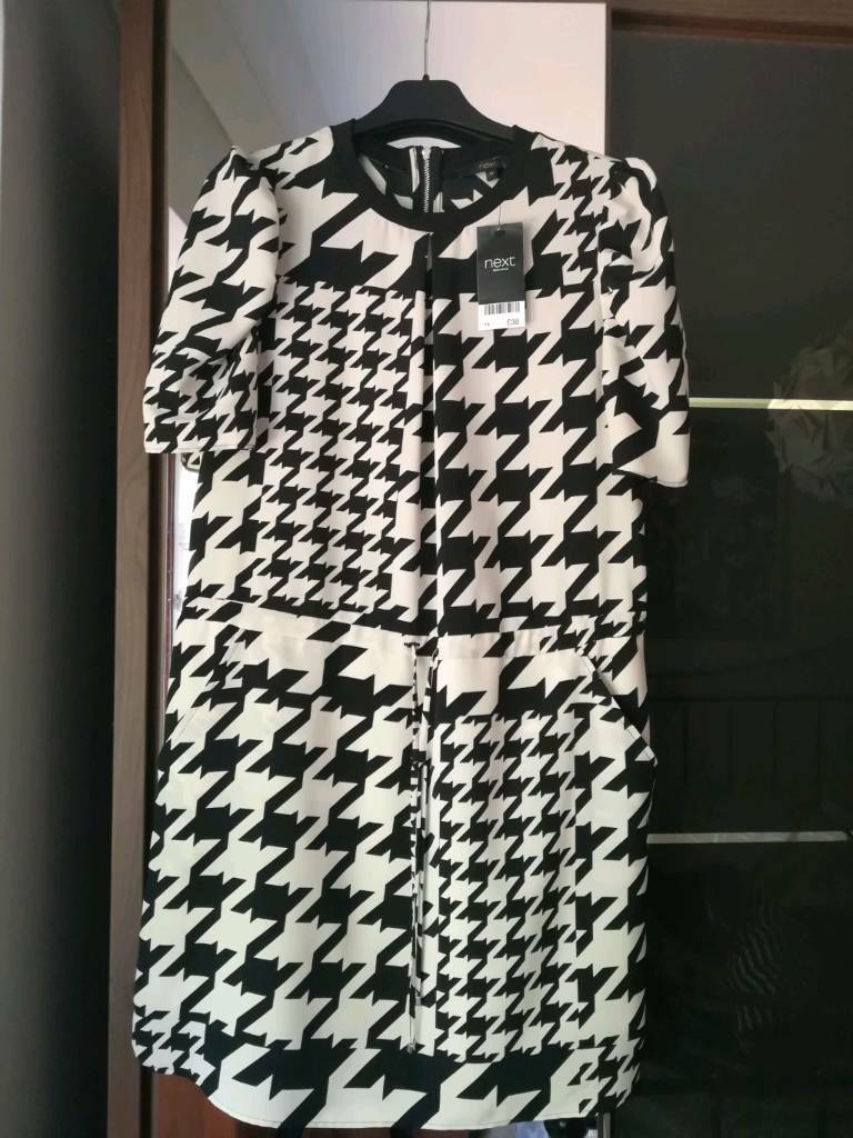 official supplier reasonably priced new design Next dogtooth dress, size 14   in Burghfield Common, Berkshire   Gumtree