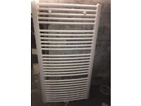 Large White towel radiator bathroom freshly painted