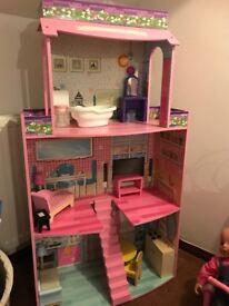 Three storey dolls house