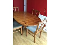 Ducal Pine table & 4 chairs
