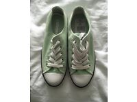 Ladies mint green converse