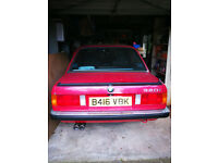 BMW 320i E30 4 Door in red with only 32,862 miles from new. Loads of paper work. Registered Nov 84