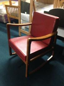 Red rocking chair £199