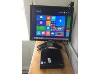 Lenovo Thinkcentre M72e, 4gb ram, 80gb Hdd, Intel penguin 2.4 ghz, windows8, + 17 inch dell monitor
