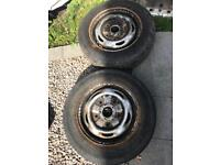 Two steel wheels for ford transit £10 each