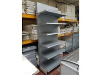 Retail, Shiny Silver AMX Wall Bay, One Off!!! Great for Shops and Supermarkets. Cheapest Available.