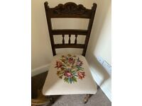 Beautiful Tapestry Bedroom occasional chair tapestry floral vintage antique