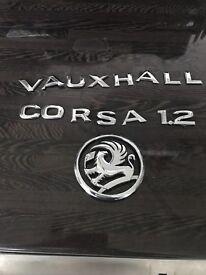 Genuine Vauxhall Corsa 1.2 badge