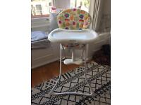 Barely Used Graco Fruit Salad Highchair