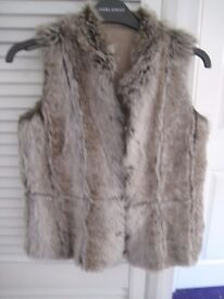 girls Monsoon reversible gilet aged 12 years faux suede and fur