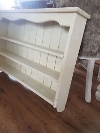 Solid pine wooden country shelving unit