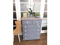 SOLID WOOD CHEST OF DRAWERS FREE DELIVERY LDN 🇬🇧SHABBY chic