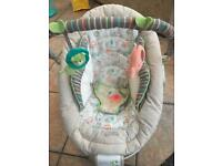 Comfort and harmony baby bouncer chair with vibration and lullabies