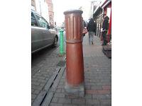 Very large salt glazed vintage chimney stack/pot