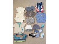 Bundle of 0-3 month boys clothes
