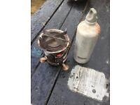 Coleman stove fuel bottle and pan set