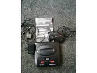 Sega megadrive 2 with games