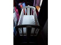 John Lewis white swinging crib