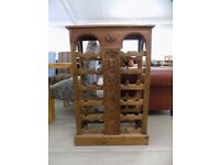 Beautiful Rustic Solid Pine Wine Rack Holds 24 Bottles