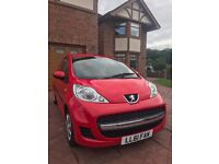 2011 [61] Peugeot 107 Urban 5dr in red, 41k miles in very good condition