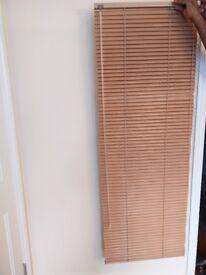 Beech finish venetian blinds