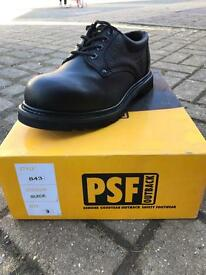 PSF 843 black safety shoes size 9