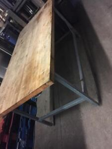 wooden Top Bakery Table