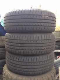 New Listing 225.55R17 Tyres x 4 , Near New 8mm Tread