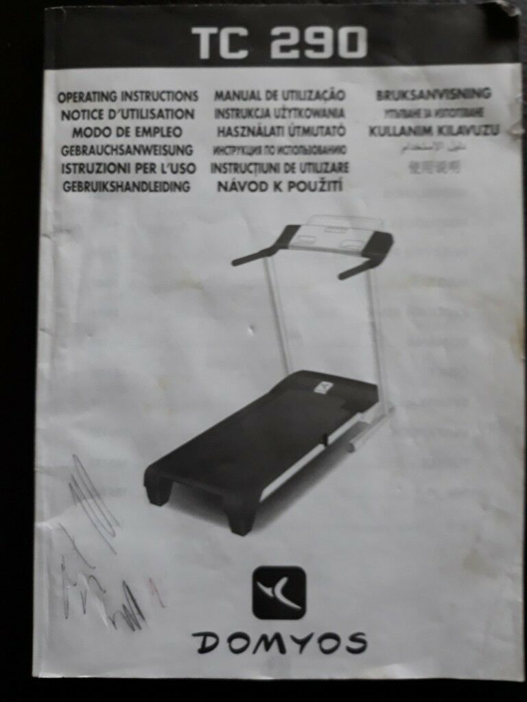 Folding Treadmill With Incline Function And Instruction Manual In