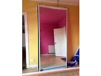 Mirrored sliding door sets for fitted wardrobe