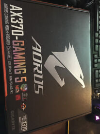 (NEW) Gigabyte Aorus AX370-Gaming 5 Motherboard, Warranty included.