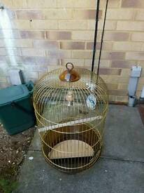 Gold rounded bird cage