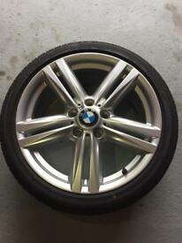 "BMW 1 Series F21 18"" Alloy Wheels and Tyres (386M)"
