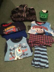 Bunfle boys age 2-3 years pyjamas spider man thomas tank olaf