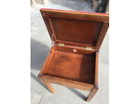 Piano stool with storage , in good condition . Must be seen. Seat lifts up to put sheet music in.