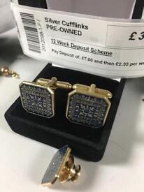 Gold plated Silver Cufflinks - per Officia ad Honorem