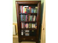 Solid wood stained birch bookcase/bookshelf, originally from the CPW Furniture Convex range