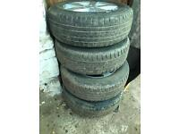 Audi 17 inch alloys winter tyres